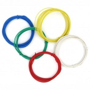VALORO Bastel-Draht 1,0mm 5 Farben sortiert weiß gelb rot grün blau kunststoffummantelt