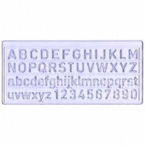 VALORO Schriftschablone 10mm im Etui Groß-, Kleinbuchstaben, Zahlen, bruchfeste Ausführung