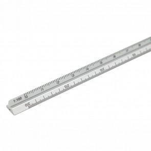 VALORO Dreikantmaßstab 15cm Aluminium Lineal Architect 1:100 - 1:600