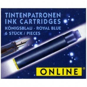 ONLINE Tintenpatronen kurz königsblau 6 Stück