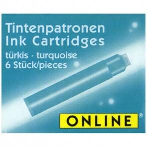 ONLINE Tintenpatronen kurz türkis 6 Stück
