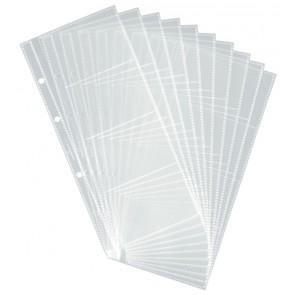 Das Bild zeigt 10 aufgefächerte Visitenkartenhüllen ohne Inhalt.