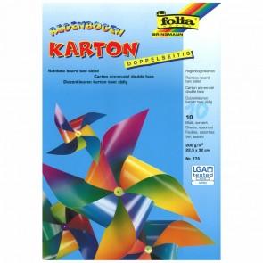 FOLIA Regenbogenkartonmappe 22x32cm 10 Blatt doppelseitig