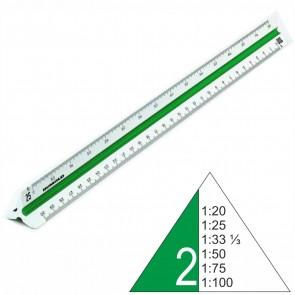 RUMOLD Dreikantmaßstab 150/2/30 Kunststoff 30cm weiß Berufsschule 2 1:20 - 1:100