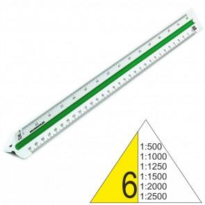RUMOLD Dreikantmaßstab 150/6/DIN Kunststoff 30cm weiß Vermessung 6 1:500 - 1:2500