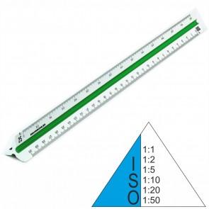 RUMOLD Dreikantmaßstab 150/ISO/30 Kunststoff 30cm weiß ISO-Norm 1 1:1 - 1:50