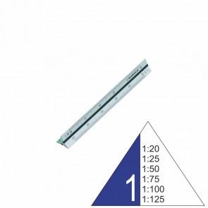 RUMOLD Dreikantmaßstab 195S/1/10 Architekt 1 10cm Aluminium 1:20 - 1:125