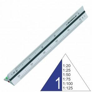 RUMOLD Dreikantmaßstab 195S/1/30 Architekt 1 30cm Aluminium 1:20 - 1:125