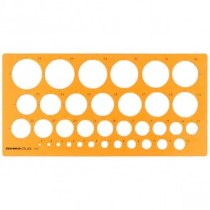 RUMOLD Kreisschablone 1-35 mm orange transparent