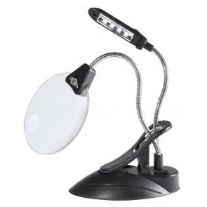 Lupenlampe mit LED sw Vergrößerung 2+4fach