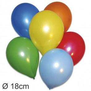 GLOBOS Luftballons rund 55-60cm Umfang, D=18cm, 100 Stück farbig sortiert