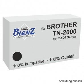 BLENZ Toner für Brother TN-2000 schwarz fabrikneu (kein Rebuilt)