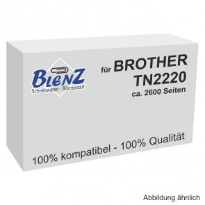 BLENZ Toner für Brother TN-2220 schwarz fabrikneu (kein Rebuilt)