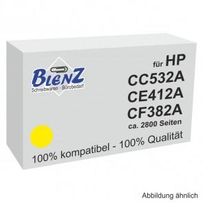 BLENZ Toner für HP CC532A CE412A, CF382A gelb