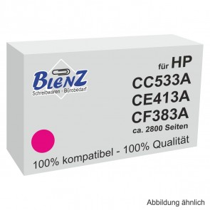 BLENZ Toner für HP CC533A CE413A, CF383A magenta