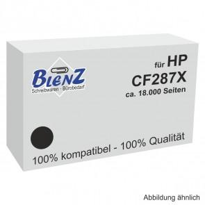BLENZ Toner für HP Nr. 87X CF287X schwarz ca. 18.000 Seiten