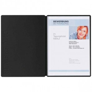 PAGNA Bewerbungsmappe Solo Classic 2-teilig 22006 schwarz
