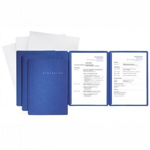 PAGNA Bewerbungsmappen Set 3-teilig blau, 3 Mappen + 3 Versandtaschen