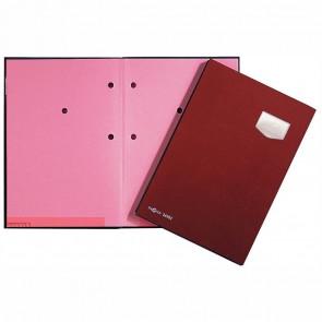 PAGNA Unterschriftsmappe A4 24102 rot 10-teilig ECO Einband