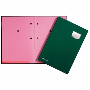 PAGNA Unterschriftsmappe A4 24102 grün 10-teilig ECO Einband
