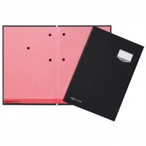 PAGNA Unterschriftsmappe A4 24102 schwarz 10-teilig ECO Einband