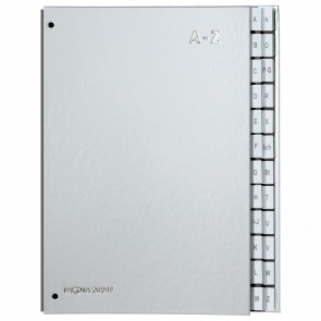 PAGNA Pultordner A-Z 24-teilig silber Color Einband