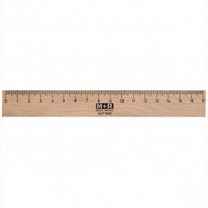 M+R Holzlineal 16cm Buche mit Stahleinlage