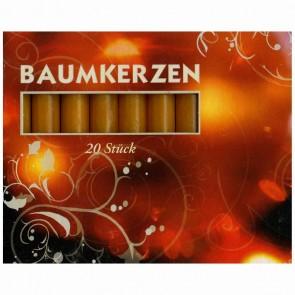 Baumkerzen 13/100 natur 20 Stück 12,8 x 96mm