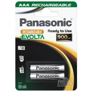 PANASONIC Evolta Akku 1,2V Micro-AAA 900mAh 2 Stück