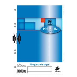Das Bild zeigt das Deckblatt der Ringbucheinlagen von oben in Einzelabbildung.