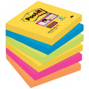 Post-it Haftnotiz Super Sticky 6546SR 76x76mm 6x90 Blatt