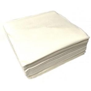 Damast Servietten 33x33cm 1/4 Falz weiß 100 Stück