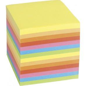 BÜROWELT Zettelklotz farbig ungeleimt 9x9cm ca. 800 Blatt