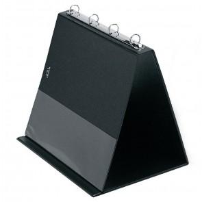 VELOFLEX Tischflipchart 4101 A4 quer schwarz mit 10 Hüllen
