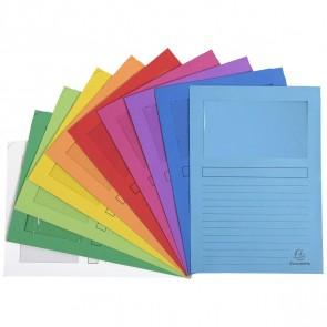 EXACOMPTA Sichthüllen forever A4 Papier 100 Stück farbig sortiert