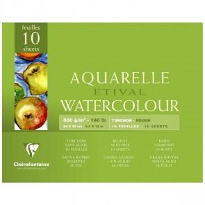 CLAIRFONTAINE Aquarellblock ETIVAL 24x30cm 300g torchon 10 Blatt