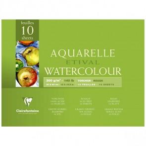 CLAIRFONTAINE Aquarellblock ETIVAL 30x40cm 300g torchon 10 Blatt