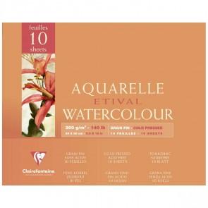 CLAIRFONTAINE Aquarellblock ETIVAL 24x30cm 300g matt 10 Blatt