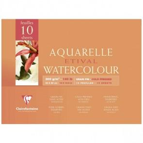 CLAIRFONTAINE Aquarellblock ETIVAL 30x40cm 300g matt 10 Blatt