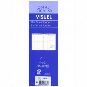 QUO VADIS Buchkalender Einlage 20852B VISUEL A5 15x21cm 2018