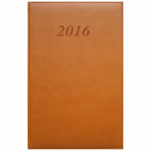 QUO VADIS Buchkalender 911140Q ABP Prestige Brand 16x24cm braun 2018