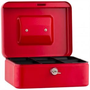 SAX Geldkassette 20 x 16 x 9cm Gr. 2 mit Schloß rot