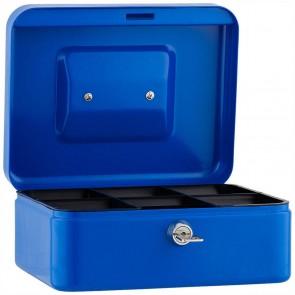 SAX Geldkassette 20 x 16 x 9cm Gr. 2 mit Schloß blau