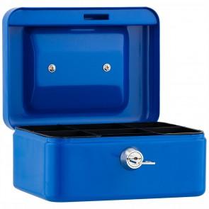 SAX Geldkassette 15,2 x 11,5 x 8cm Gr. 1 mit Schloß blau