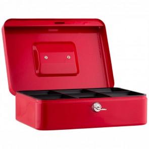 SAX Geldkassette 25 x 18 x 9cm Gr. 3 mit Schloß rot