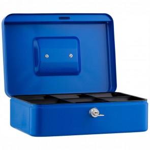 SAX Geldkassette 25 x 18 x 9cm Gr. 3 mit Schloß blau