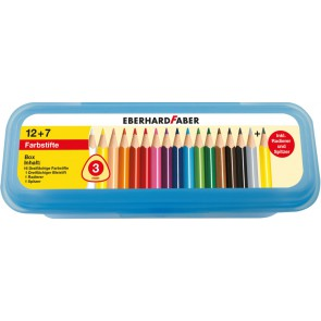 EBERHARD FABER Buntstift Box 16+3 dreikant