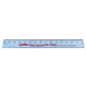 KUM Linkshänder-Lineal 17cm Lefty Softie Flex transparent