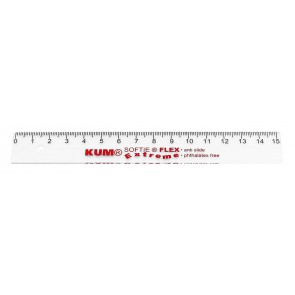 KUM Lineal Softie Flex Extreme 17cm transparent