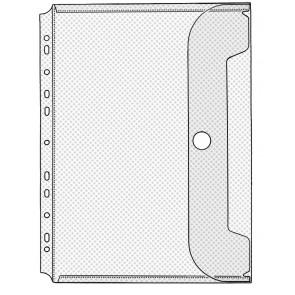 VELOFLEX Dokumentenhülle 5342 A4 mit Klettverschluß abheftbar